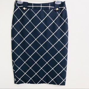 The Limited Navy High Waisted Pencil Skirt sz2